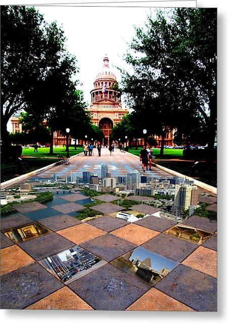Capital City Collage Austin Texas Greeting Card