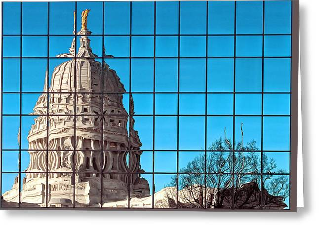 Capital City Reflection Greeting Card