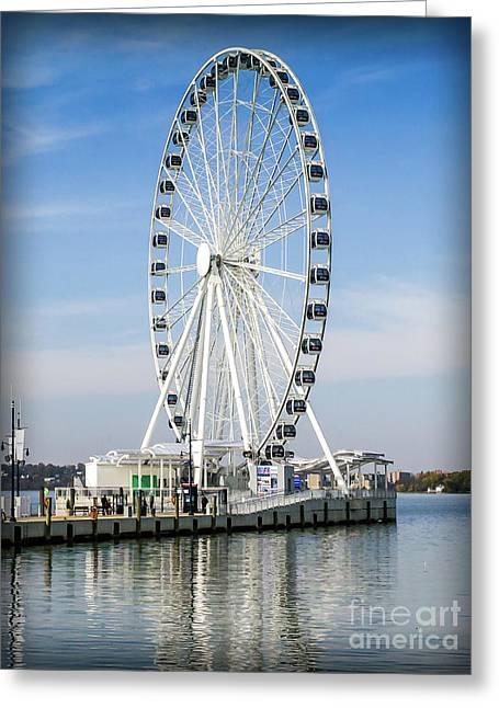 Capital Ferris Wheel Greeting Card