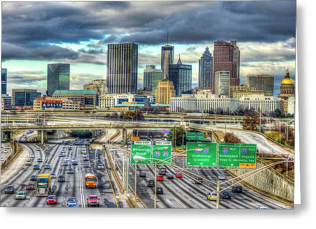 Capital Of The South Atlanta Skyline Cityscape Art Greeting Card