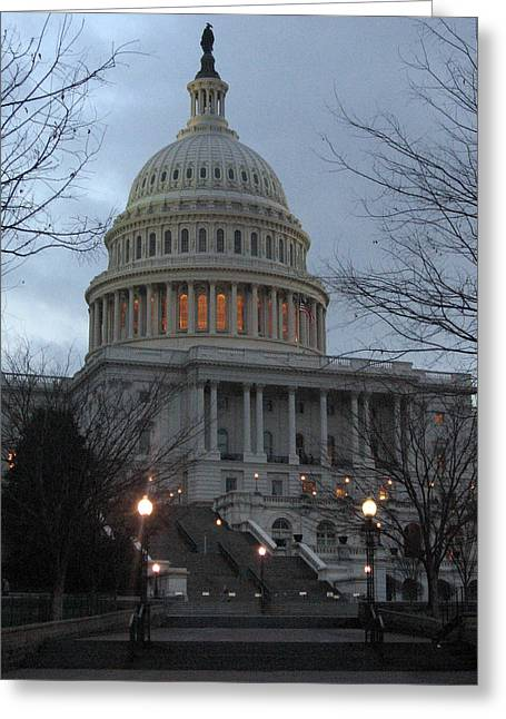Capitol At Dusk Greeting Card by Sean Owens