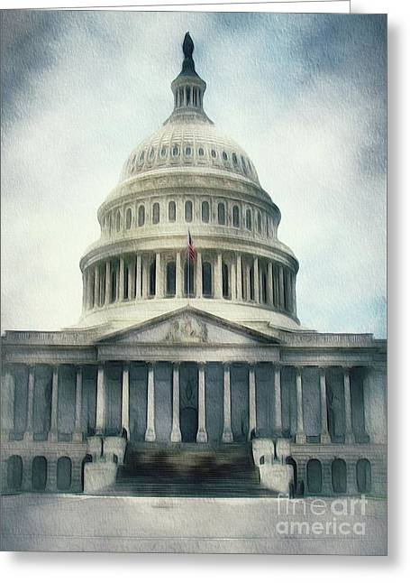 Capitol Building, Washington Greeting Card