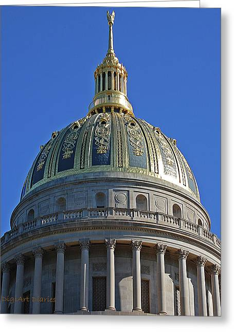 Capitol Dome Charleston Wv Greeting Card