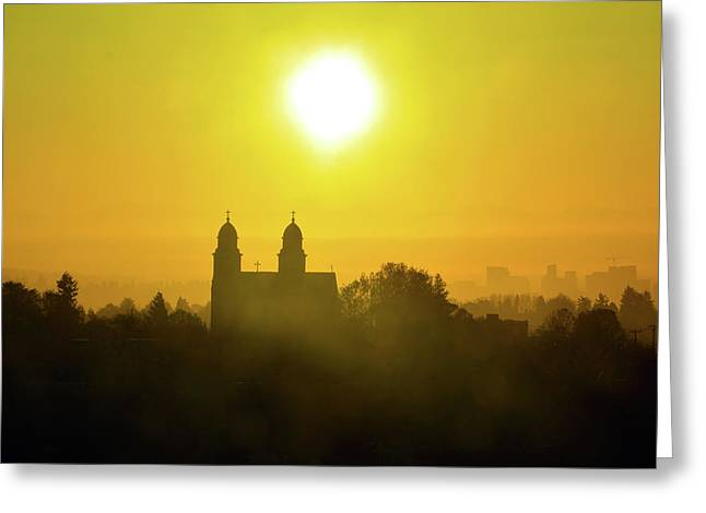 Capitol Hill Sunrise   Greeting Card