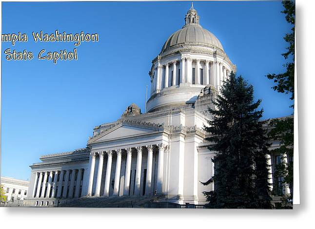 Capitol Greeting Card by Larry Keahey
