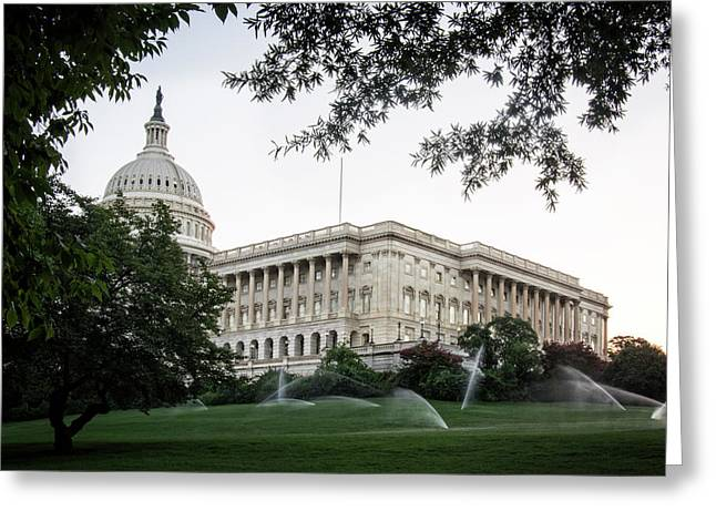 Capitol Lawn Greeting Card by Greg Mimbs