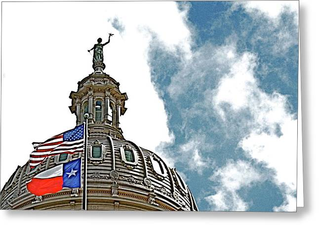 Austin Architecture Greeting Cards - Capitol of Texas 2 Greeting Card by Alison Mae Photography