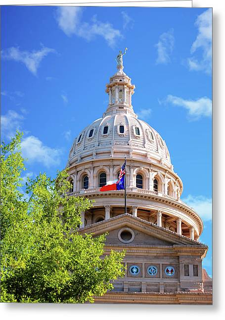 Capitol Of Texas - State Building - Austin Texas Greeting Card by Gregory Ballos