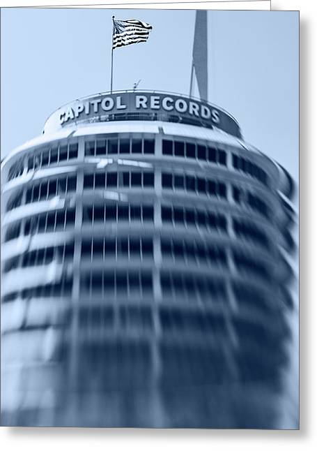 Capitol Records Building 16 Greeting Card