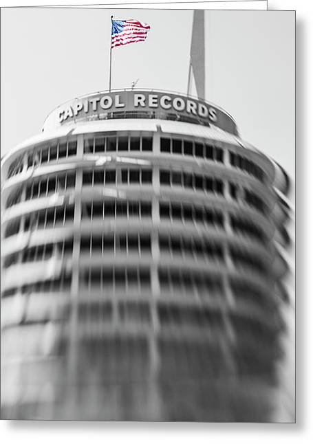 Greeting Card featuring the photograph Capitol Records Building 18 by Micah May