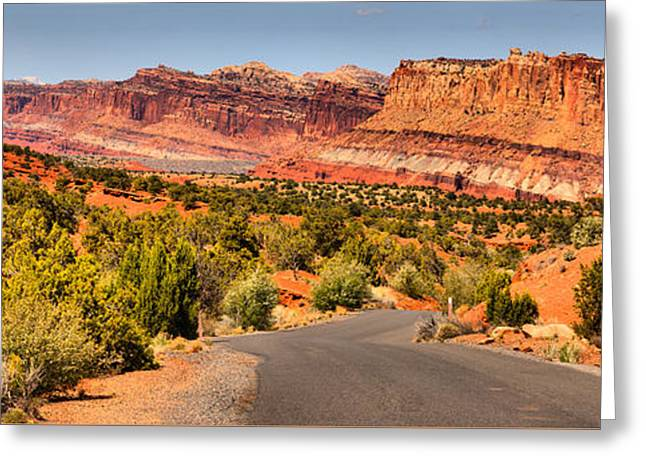 Capitol Reef Scenic Drive Landscape Greeting Card