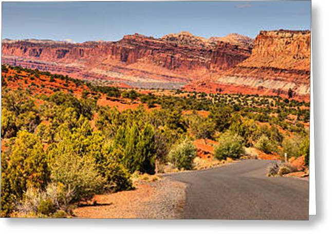 Capitol Reef Scenic Drive Panorama Greeting Card