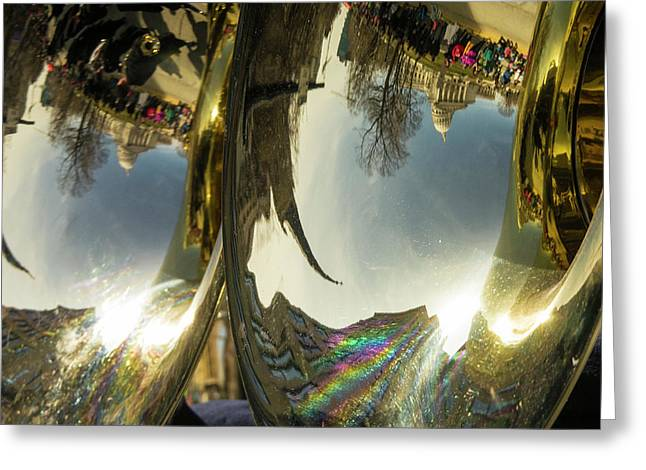 Capitol Reflection - Madison - Wiscosnin Greeting Card by Steven Ralser