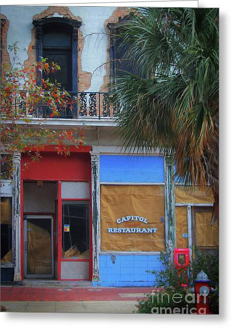 Capitol Restaurant Greeting Card by Skip Willits