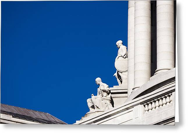 Capitol Statues - Madison Wisconsin-1 Greeting Card
