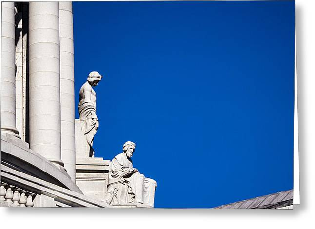 Capitol Statues - Madison Wisconsin-2 Greeting Card