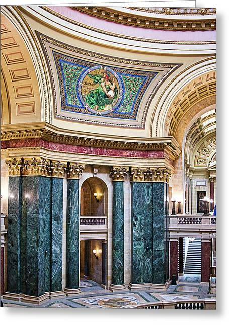 Capitol Rotunda -madison - Wisconsin Greeting Card