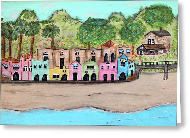 Capitola By The Sea Greeting Card by Cindy Kay Frazier