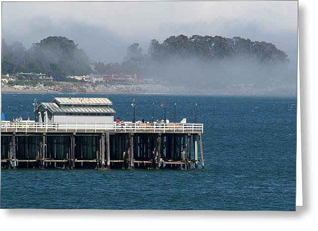 Capitola California - Ocean Pier Greeting Card by Brendan Reals