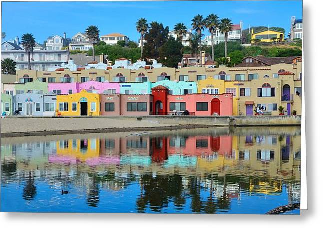 Capitola California Colorful Hotel Greeting Card
