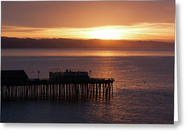 Greeting Card featuring the photograph Capitola Day Begins by Lora Lee Chapman