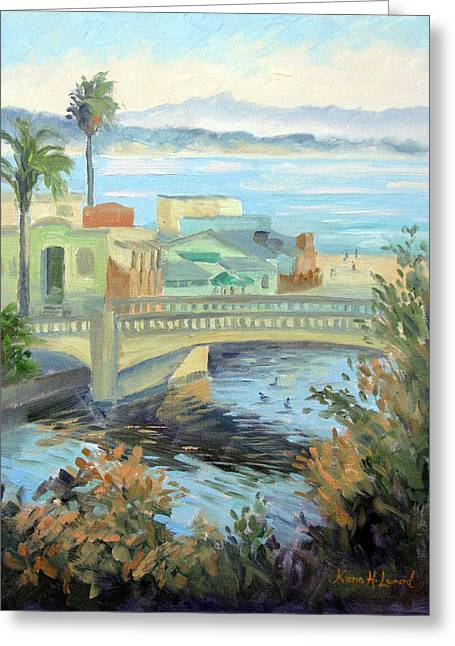 Capitola Dreaming Greeting Card by Karin  Leonard