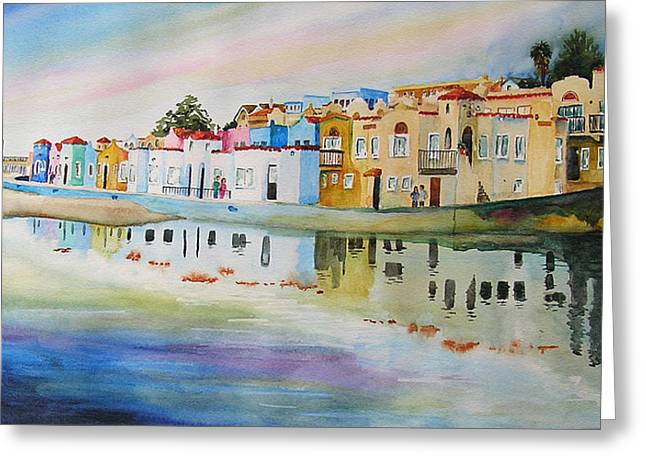 California Beach Greeting Cards - Capitola Greeting Card by Karen Stark