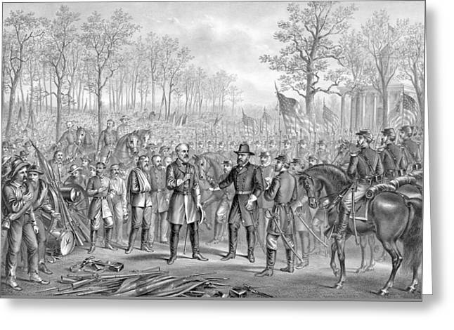 Capitulation And Surrender Of Robert E Lee Greeting Card
