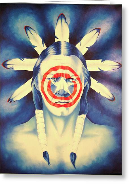 Cap'n Native America Greeting Card