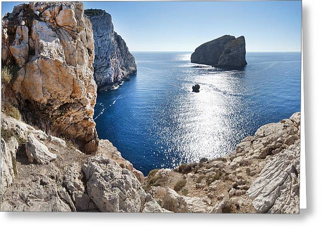 Capo Caccia Greeting Card by Robert Lacy