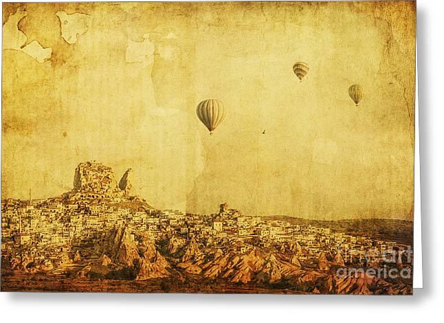 Cappadocia Greeting Card by Andrew Paranavitana