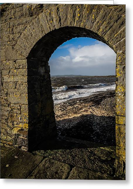 Cappagh Pier And Ireland's Shannon Estuary Greeting Card