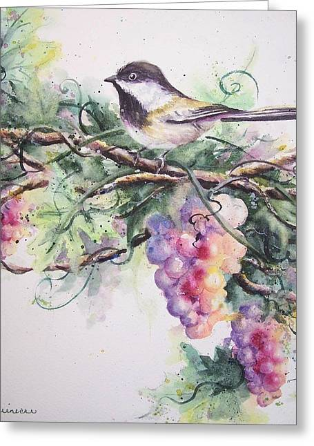 Capped Chickadee Greeting Card