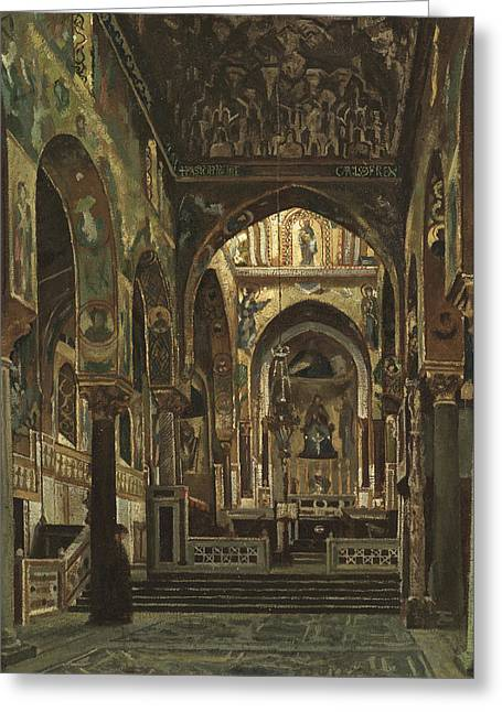 Cappella Palatina, Palermo  Greeting Card by Frederic Leighton