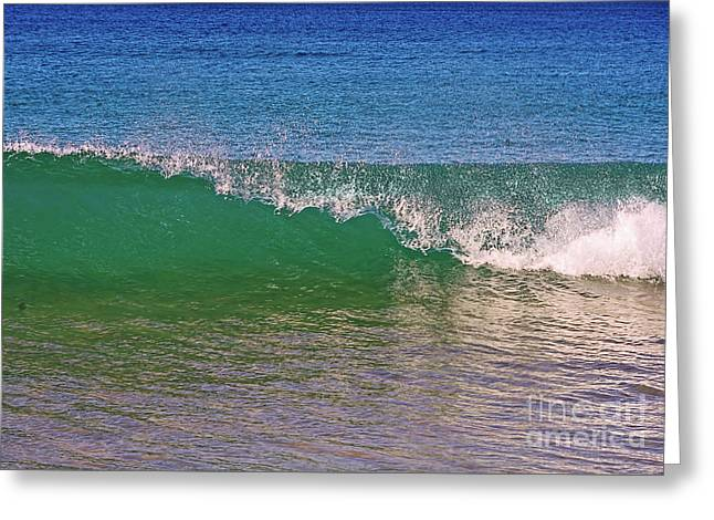 Capping Wave By Kaye Menner Greeting Card by Kaye Menner