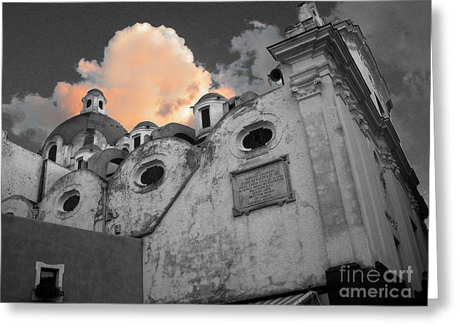 Capri Church Greeting Card by Jim Wright