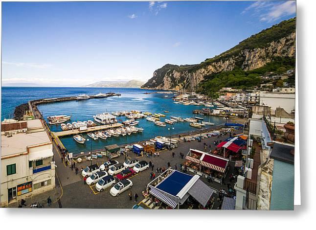 Capri Harbor Greeting Card