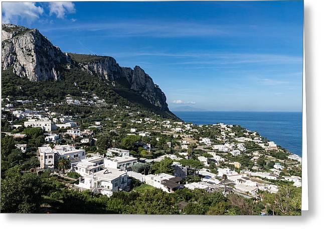 Capri Island Italy Greeting Card by Georgia Mizuleva