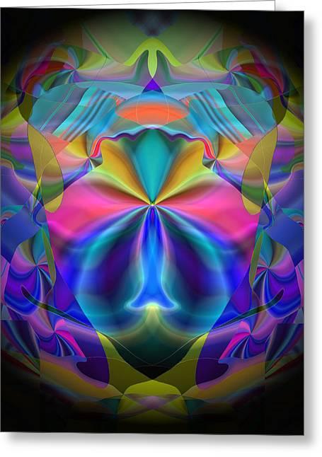 Greeting Card featuring the digital art Caprice by Lynda Lehmann