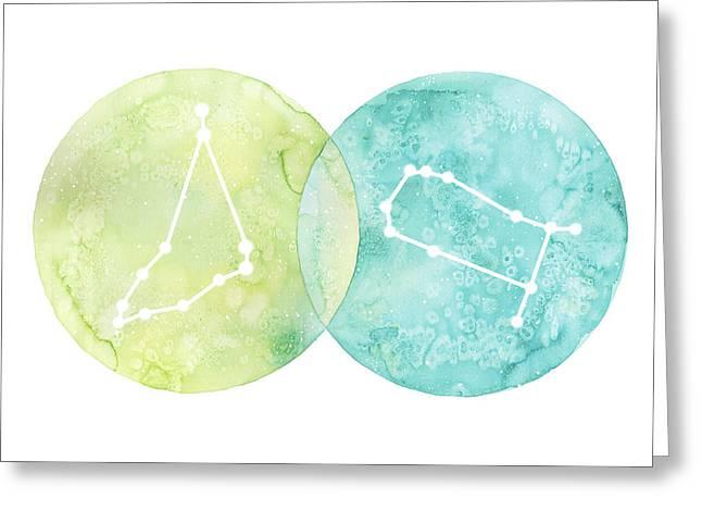 Capricorn And Gemini Greeting Card by Stephie Jones
