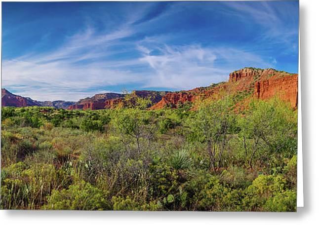 Caprock Canyon Panorama 2 Greeting Card