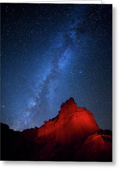 Caprock Canyons October Sky Greeting Card by Stephen Stookey