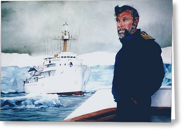 Greeting Card featuring the painting Capt Derek Law by Tim Johnson