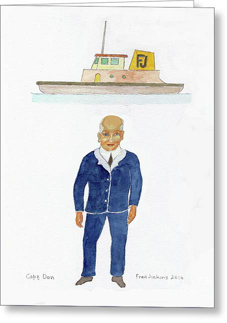 Capt. Don Greeting Card by Fred Jinkins