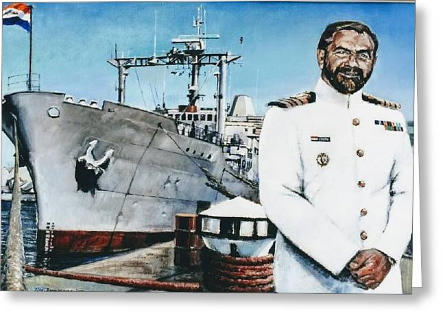 Greeting Card featuring the painting Capt Eric Green by Tim Johnson