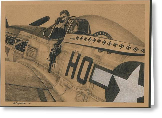 Capt. Raymond H. Littge 1945 Greeting Card by Wade Meyers