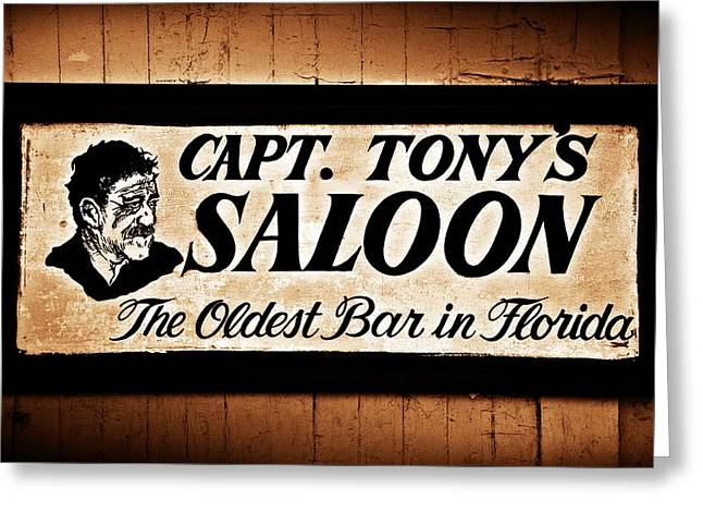 Capt. Tony's Saloon - Key West Florida Greeting Card by Bill Cannon