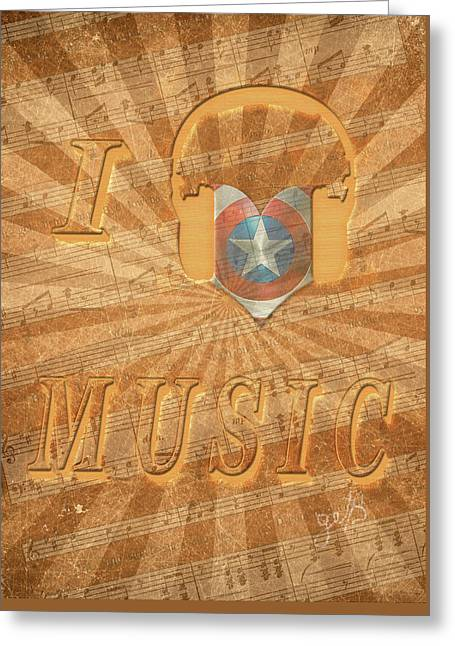 Greeting Card featuring the painting Captain America Lullaby Original Digital by Georgeta Blanaru
