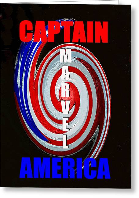 Captain America Poster Spc Work One Greeting Card by David Lee Thompson
