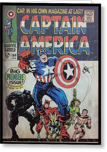 Captain America  Greeting Card by Rob Hans